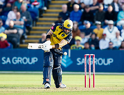 Photographer Simon King/Replay Images<br /> <br /> Vitality Blast T20 - Round 1 - Glamorgan v Somerset - Thursday 18th July 2019 - Sophia Gardens - Cardiff<br /> <br /> World Copyright © Replay Images . All rights reserved. info@replayimages.co.uk - http://replayimages.co.uk