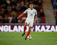 Trent Alexander-Arnold of England during the U21 UEFA EURO first qualifying round match between England and Scotland at the Riverside Stadium, Middlesbrough, England on 6 October 2017. Photo by Paul Thompson.