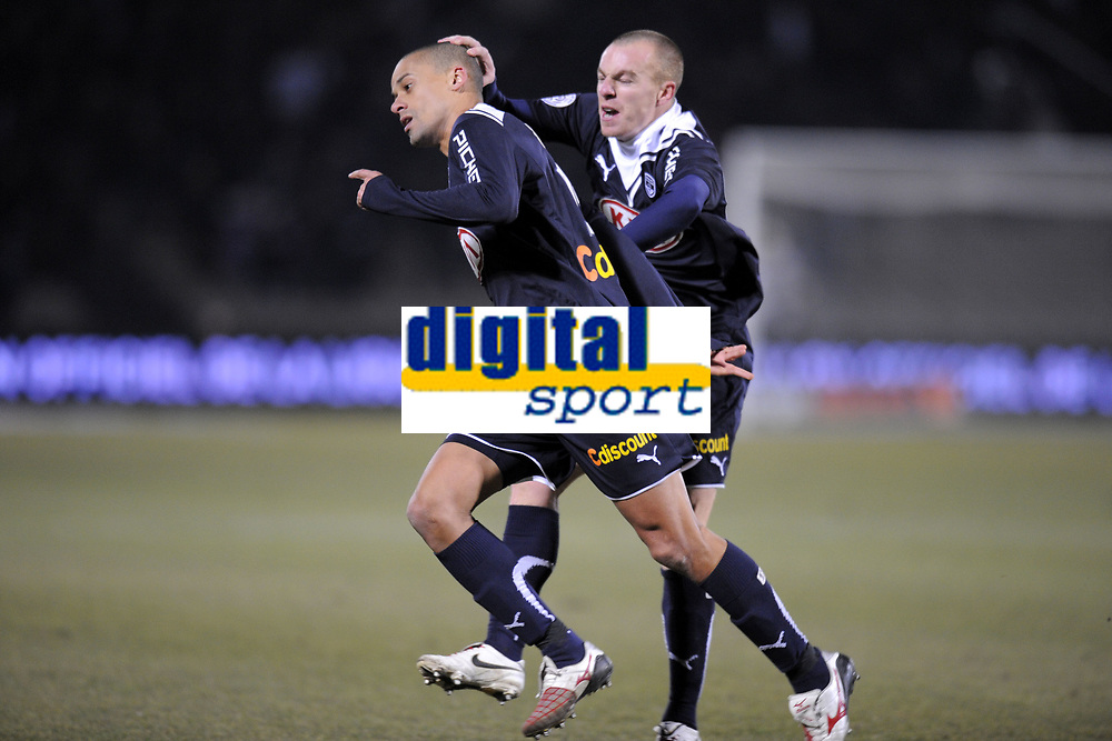 FOOTBALL - FRENCH CHAMPIONSHIP 2009/2010 - L1 - GIRONDINS BORDEAUX v AS SAINT ETIENNE - 14/02/2010 - PHOTO JEAN MARIE HERVIO / DPPI - JOY WENDEL (BDX) AFTER HIS GOAL