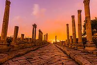 The Colonnaded Street, Greco-Roman ruins, Jerash, Jordan.