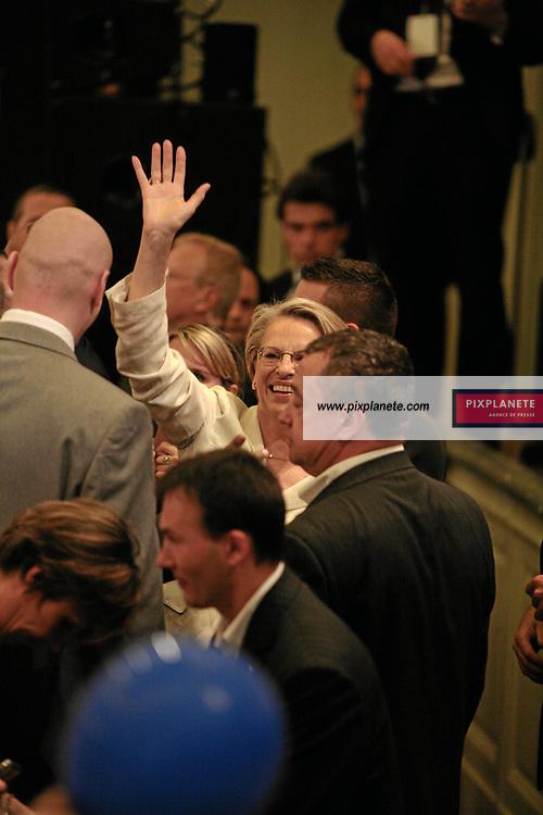 Michèle Alliot Marie - Salle Gaveau à Paris - Soirée officielle de l'UMP pour les élections présidentielle - Official party for the winner of the french election - Paris, le 6/05/2007 - JSB / PixPlanete