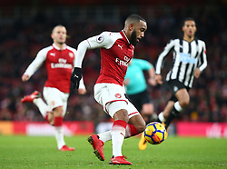 December 16, 2017 - London, England, United Kingdom - Arsenal's Alexandre Lacazette..during Premier League match between Arsenal and Newcastle United at The Emirates , London 16 Dec  2017  (Credit Image: © Kieran Galvin/NurPhoto via ZUMA Press)