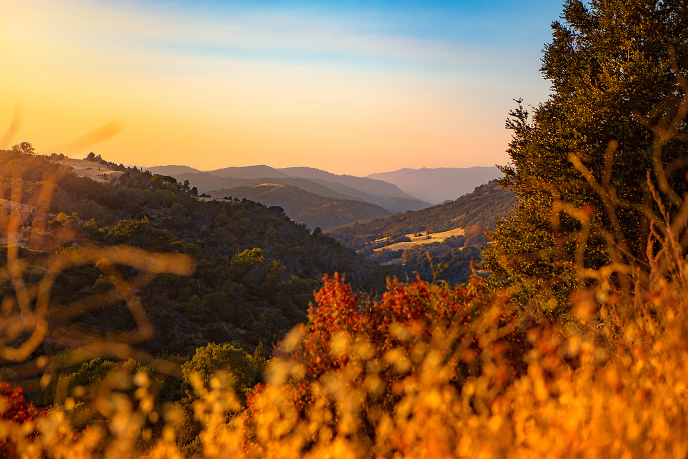 Scenic Valley at Sunset with Fall Colors in Julian, California. ©justinalexanderbartels.com