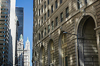 Architecture of downtown New York City.