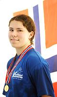 NM svømming senior/04032004/ Grottebadet i Harstad/ Mariann Vestbølstad Vestkantsvømmerne/100m butterfly damer forsøk/Mariann satte ny personlig rekord og verdensrekord på 50mrygg damer<br /> FOTO: KAJA BAARDSEN/DIGITALSPORT