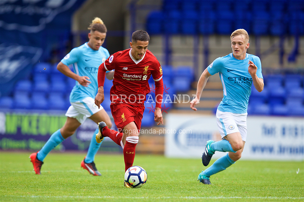 BIRKENHEAD, ENGLAND - Sunday, September 10, 2017: Liverpool's substitute Yan Dhanda during the Under-23 FA Premier League 2 Division 1 match between Liverpool and Manchester City at Prenton Park. (Pic by David Rawcliffe/Propaganda)