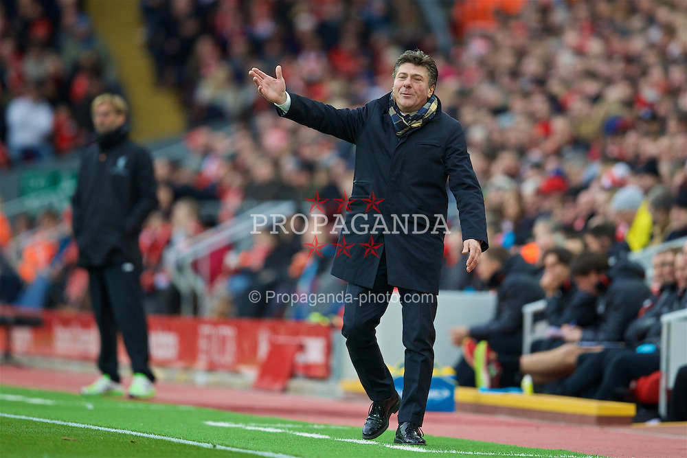 LIVERPOOL, ENGLAND - Sunday, November 6, 2016: Watford's head coach Walter Mazzarri during the FA Premier League match against Liverpool at Anfield. (Pic by David Rawcliffe/Propaganda)