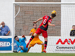 Annan Athletic's Ayrton Soukur misses a chance. Livingston 1 v 0 Annan Athletic, Scottish League Cup Group F, played 21/7/2018 at Prestonfield, Linlithgow.