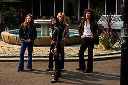 L-R: Joe Mazzello (John Deacon), Rami Malek (Freddie Mercury), Ben Hardy (Roger Taylor), and Gwilym Lee (Brian May) star in Twentieth Century Fox's BOHEMIAN RHAPSODY. Photo Credit: Alex Bailey.