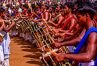 Melam (traditional Kerala orchestra), Great Elephant Show, Thrissur (Trichur), Kerala, India