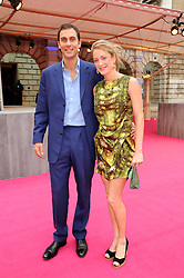 HUGH & ROSE VAN CUTSEM at the Royal Academy of Arts Summer Party held at Burlington House, Piccadilly, London on 9th June 2010.