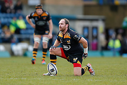 Wasps Fly-Half Andy Goode looks on before a conversion kick - Photo mandatory by-line: Rogan Thomson/JMP - 07966 386802 - 14/12/2014 - SPORT - RUGBY UNION - High Wycombe, England - Adams Park Stadium - Wasps v Castres Olympique - European Rugby Champions Cup Pool 2.