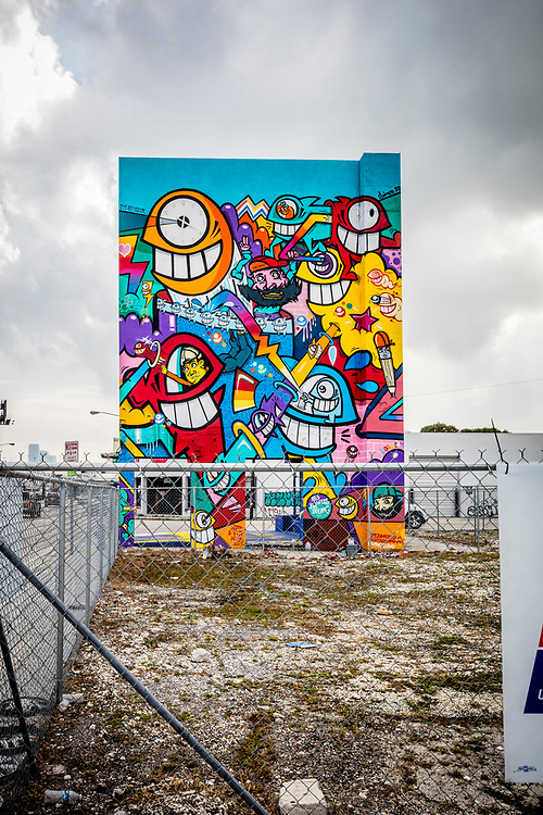 The street art culture of Miami's Wynwood district is spilling into nearby, transitioning neighborhoods, in this case, Miami's Design District