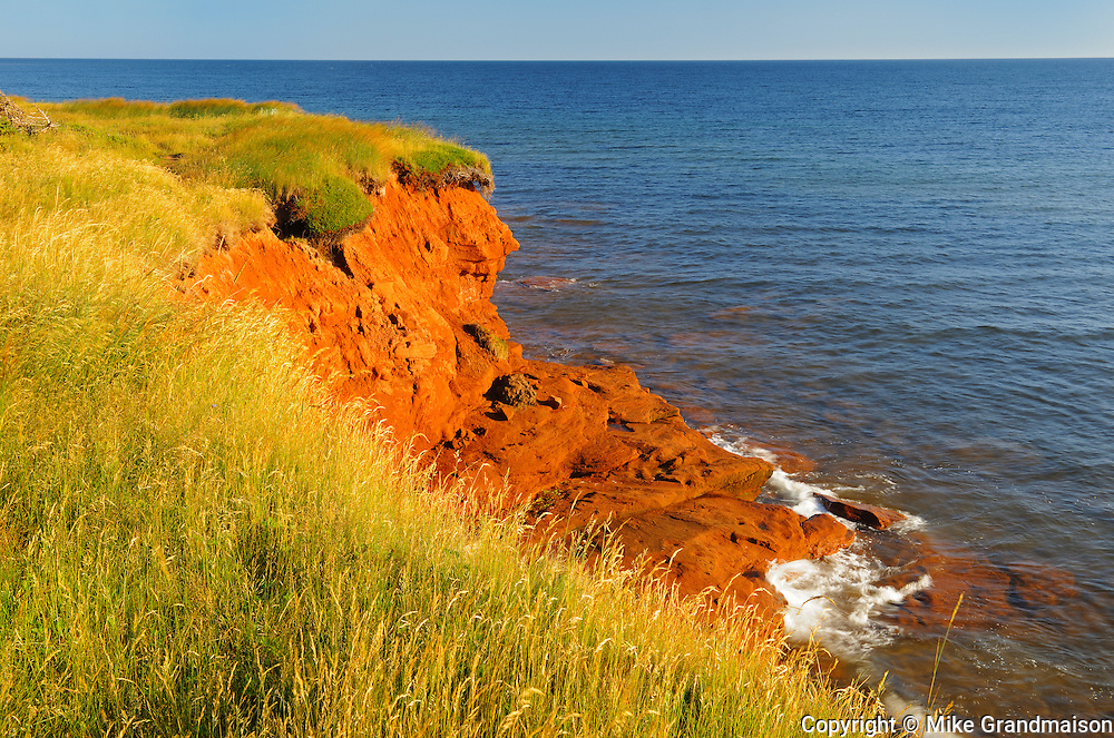 Clouds and shoreline along the Northumberland Strait