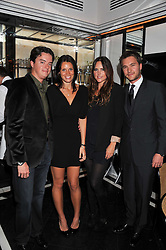Left to right, JAMIE CARING, JULIA PHELPS and BEN & ELLE CARING at a dinner to celebrate the 30th anniversary of Le Caprice, Arlington Street, London SW1 on 4th October 2011.
