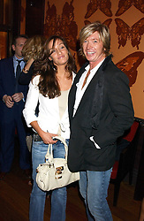 Hairdresser NICKY CLARKE and OCTAVIA COATE at a party to celebrate the publication of 'Everything I Know About Men I Learnt From My Dog' by Clare Staples held at Fifty, St.James's, London on 7th September 2005.<br />
