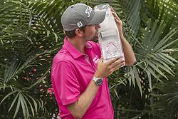 May 13, 2018 - Ponte Vedra Beach, Florida, USA - Web Simpson accepting the trophy after winning The Players Championship at Sawgrass on May 13, 2018. (Credit Image: © Dalton Hamm/via ZUMA Wire via ZUMA Wire)