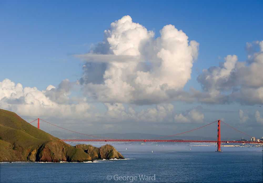 The Golden Gate Bridgeand Cloud Formation,Golden Gate National Recreation Area, in County, California