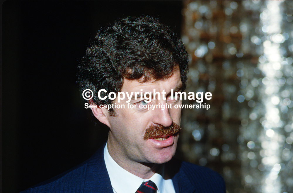 Dick Spring, TD, Deputy Prime Minister, Tanaiste, Rep of Ireland, 1985010000010DS.<br /> <br /> Copyright Image from Victor Patterson, Belfast, UK<br /> <br /> t: +44 28 9066 1296 (from Rep of Ireland 048 9066 1296)<br /> m: +44 7802 353836<br /> e: victorpattersonbelfast@gmail.com<br /> <br /> www.images4media.com<br /> <br /> Please see my full Terms and Conditions of Use at https://www.images4media.com/p/terms-conditions - it is IMPORTANT that you familiarise yourself with them.<br /> <br /> Images used online incur an additional cost. This cost should be agreed in writing in advance. Online images must be visibly watermarked i.e. © Victor Patterson or that of the named photographer within the body of the image. The original metadata must not be deleted from images used online.<br /> <br /> This image is only available for the use of the download recipient i.e. television station, newspaper, magazine, book publisher, etc, and must not be passed on to a third party. It is also downloaded on condition that each and every usage is notified within 7 days to victorpattersonbelfast@gmail.com.<br /> <br /> The right of Victor Patterson (or the named photographer) to be identified as the author is asserted in accordance with The Copyright Designs And Patents Act (1988). All moral rights are asserted.