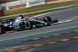February 21, 2019 - Barcelona, Spain - English five time World Champions Lewis Hamilton of German team Mercedes-AMG Petronas Motosport driving his single-seater Mercedes W10 during Barcelona winter test in Catalunya Circuit in Montmelo, Spain  (Credit Image: © Andrea Diodato/NurPhoto via ZUMA Press)