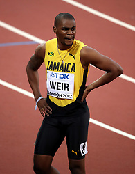 Jamaica's Warren Weir in action in the Men's 200m heats during day four of the 2017 IAAF World Championships at the London Stadium.
