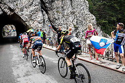 Cameron Meyer (AUS) of Mitchelton - Scott and supporters at Predmeja during 4th Stage of 26th Tour of Slovenia 2019 cycling race between Nova Gorica and Ajdovscina (153,9 km), on June 22, 2019 in Slovenia. Photo by Vid Ponikvar / Sportida