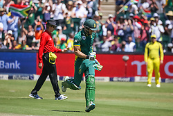 Faf du Plessis of SA celebrates his century during the 2nd ODI match between South Africa and Australia held at The Wanderers Stadium in Johannesburg, Gauteng, South Africa on the 2nd October  2016<br /> <br /> Photo by Dominic Barnardt/ RealTime Images