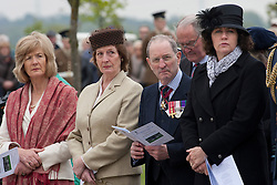 © Licensed to London News Pictures.20/05/2012, National Memorial Arboretum, Alrewas, Staffordhire, UK.The Service and Dedication of the Falklands Memorial at the National Memorial Arboretum took place earlier today. Pictured, Sara Jones, widow of Colonel H Jones, left with other dignitaries. Photo credit : Dave Warren/LNP