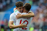 John Stones of England celebrates after his goal with Kieran Trippier during the 2018 FIFA World Cup Russia, Group G football match between England and Panama on June 24, 2018 at Nizhny Novgorod Stadium in Nizhny Novgorod, Russia - Photo Thiago Bernardes / FramePhoto / ProSportsImages / DPPI