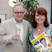 NLD/Amsterdam/20120614 - Presentatie wielerblad Tour Express, van Louis Bovee, partner Trudy