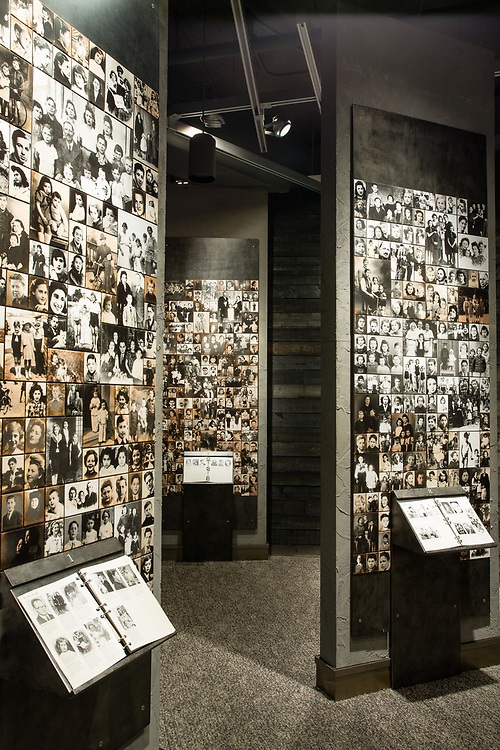 Photographs of thousands of Jews deported from France during the Holocaust, from a collection assembled by Serge and Beate Klausfeld.