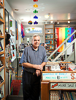 In 1973, Ed Hermance opened a gay/lesbian bookstore on South Street in Philadelphia. He named it after James Baldwin's novel, Giovanni's Room. It was one of the first LGBT focused bookstores in the country. Hermance was photographed at the bookstore's current location at 12th and Spruce Streets in Center City Philadelphia