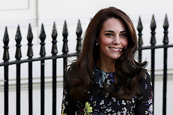 The Duchess of Cambridge arriving at the Institute of Contemporary Art in London where she and the Duke of Cambridge and Prince Harry were outlining the next phase of their mental health Heads Together campaign.