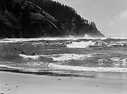9969-7280. Surf at Neskowin, Oregon, looking toward Cascade Head. July 20, 1948.