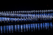 Dancers of the Impression Sanjie Liu performing a spectacular light and sound show directed by Zhang Yimou, Yangsuo, China