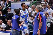 DESCRIZIONE : Campionato 2014/15 Dinamo Banco di Sardegna Sassari - Dolomiti Energia Aquila Trento Playoff Quarti di Finale Gara4<br /> GIOCATORE : Kenneth Kadji<br /> CATEGORIA : Fair Play Cambio Sostituzione<br /> SQUADRA : Dinamo Banco di Sardegna Sassari<br /> EVENTO : LegaBasket Serie A Beko 2014/2015 Playoff Quarti di Finale Gara4<br /> GARA : Dinamo Banco di Sardegna Sassari - Dolomiti Energia Aquila Trento Gara4<br /> DATA : 24/05/2015<br /> SPORT : Pallacanestro <br /> AUTORE : Agenzia Ciamillo-Castoria/L.Canu