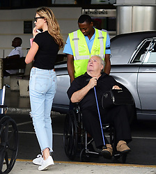 EXCLUSIVE: Abbey Clancy and Peter Crouch arrive at Grantley Adam International Airport in Barbados. 08 Jun 2018 Pictured: Abbey Clancy and Peter Crouch. Photo credit: Shanice King/246paps / MEGA TheMegaAgency.com +1 888 505 6342