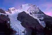 Berg Glacier and Berg Lake are a scenic backpacking destination in Mount Robson Provincial Park of British Columbia, Canada. Mount Robson (3954 meters or 12,972 feet) is the highest point in the Canadian Rockies, and is part of the Rainbow Range. Mount Robson is part of the Canadian Rocky Mountain Parks World Heritage Site honored by UNESCO in 1984.