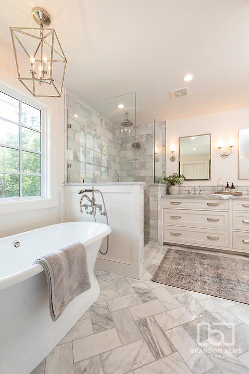 Master Bathroom interior photography by Brandon Alms Photography