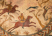 PORTUGAL, ROMAN PERIOD Conimbriga; hunting scene mosaic