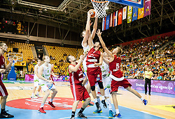Mirza Begic of Slovenia during friendly match between National teams of Slovenia and Latvia for Eurobasket 2013 on August 2, 2013 in Arena Zlatorog, Celje, Slovenia. Slovenia defeated Latvia 71-67. (Photo by Vid Ponikvar / Sportida.com)