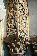 """13th century Medieval Romanesque Sculptures from the facade of St Mark's Basilica, Venice, depicting """"Lust"""" ."""