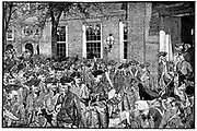 First Public Reading of the Declaration of Independence.  Passed by Congress in Philadelphia, 2 July, 1776, adopted on 4 July.  Engraving from 'Harper's Weekly', 1880. Engraving.