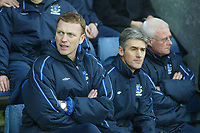 18/12/2004 - FA Barclays Premiership - Blackburn Rovers v Everton - Ewood Park<br />Everton manager David Moyes sits on the bench with his coaching staff<br />Photo:Jed Leicester/Back Page Images