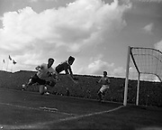 19/05/1957 <br /> 05/19/1957<br /> 19 May 1957<br /> Soccer International: Ireland v England, World Cup group qualifier at Dalymount Park, Dublin. The game ended in a 1-1 draw with goals from Alf Ringstead (Ireland) and John Atyeo (England).