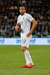 Andros Townsend of England looks frustrated - Photo mandatory by-line: Rogan Thomson/JMP - 07966 386802 - 31/03/2015 - SPORT - FOOTBALL - Turin, Italy - Juventus Stadium - Italy v England - FIFA International Friendly Match.