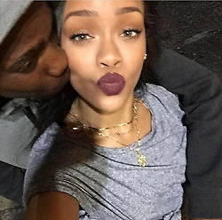 EXCLUSIVE: *NO WEB* Rihanna's Niece Tanelle Aleyne with her brother Tavon Alleyne in good times before he was murdered on Boxing Day. 27 Dec 2017 Pictured: Tanella Alleyne and Rihann. Photo credit: MEGA TheMegaAgency.com +1 888 505 6342