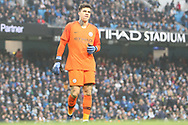 31 Ederson for Manchester City during the The FA Cup 3rd round match between Manchester City and Rotherham United at the Etihad Stadium, Manchester, England on 6 January 2019.