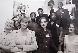 A photograh of Diana, Princess of Wales, taken in June 1995 at the Depaul Trust Hostel in Willesden, London.