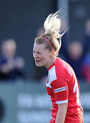 Bristol Academy's Nikki Watts celebrates scoring against Arsenal Ladies - Photo mandatory by-line: Paul Knight/JMP - Mobile: 07966 386802 - 09/05/2015 - SPORT - Football - Bristol - Stoke Gifford Stadium - Bristol Academy Women v Arsenal Ladies FC - FA Women's Super League